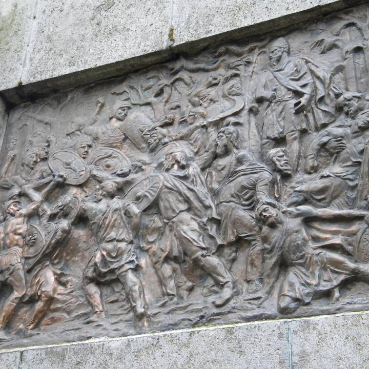 Dacian War Bas-Relief in Deva, Romania