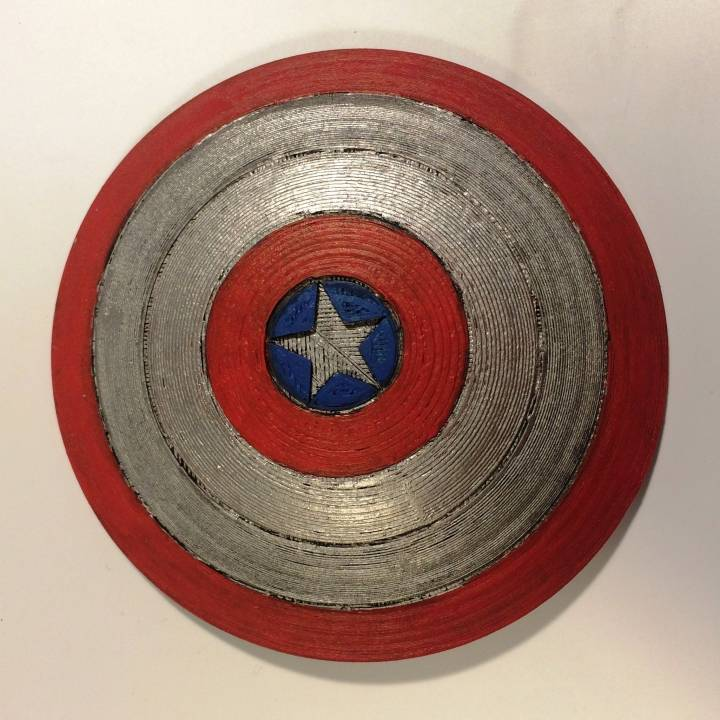 This is a picture of Geeky Captain America Shield Printable