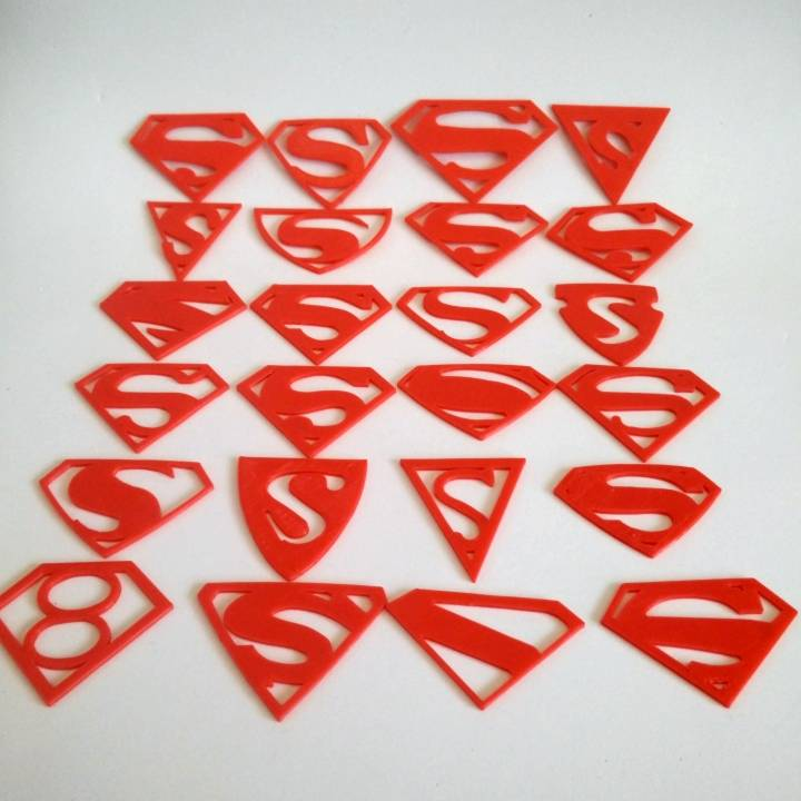 photo about Printable Superman Logos named 3D Printable All of Superman trademarks through morgan hawkins
