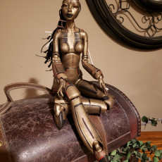 """Picture of print of """"Robotica"""" BJD Doll"""
