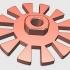 Rotor 3-phase electric generator. image