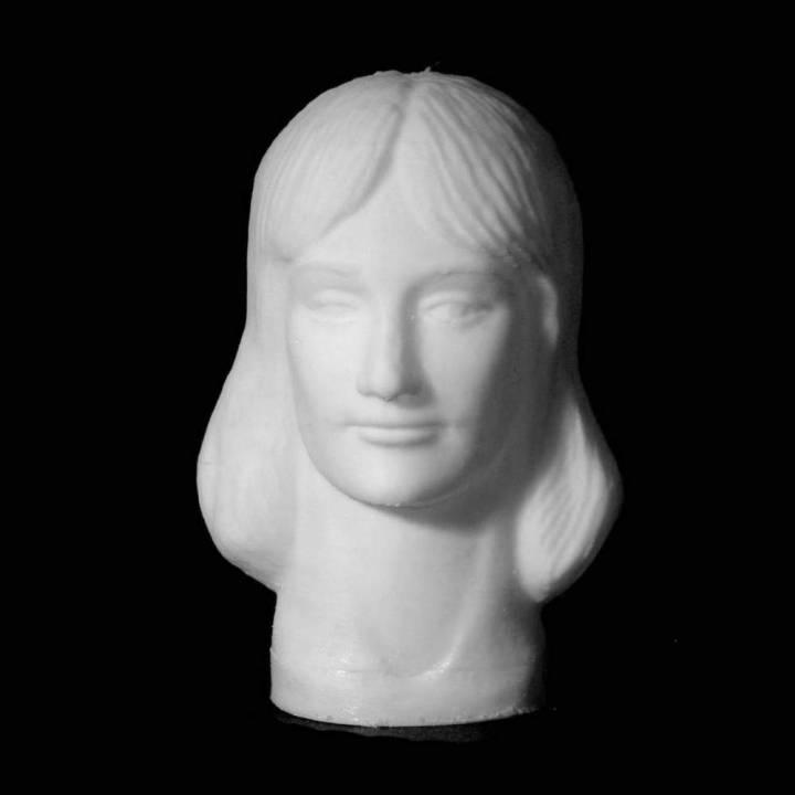 Simona Amânar bust in Deva, Romania