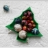 Christmas tree plate. image