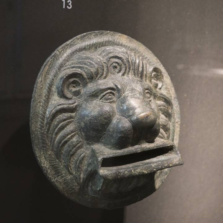 Mithraic Lion Face at The Curtius Museum, Liege