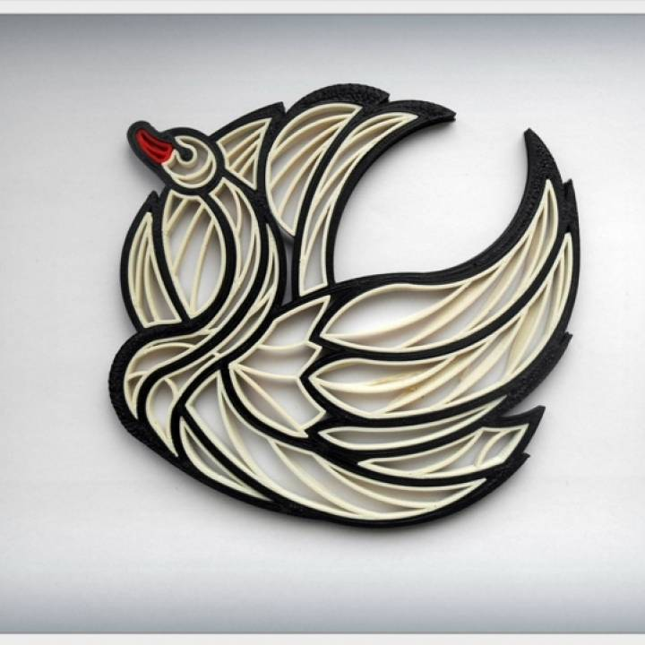 """Quilling """"Swan"""""""