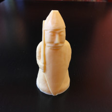 Picture of print of The Lewis Chessmen at The National Museum of Scotland