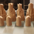 The Lewis Chessmen at The National Museum of Scotland print image