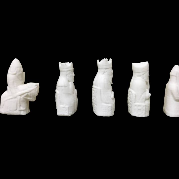 The Lewis Chessmen at The National Museum of Scotland