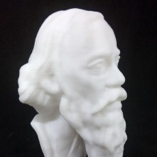 Picture of print of Head of Rabindranath Tagore at The Birmingham Museum and Art Gallery