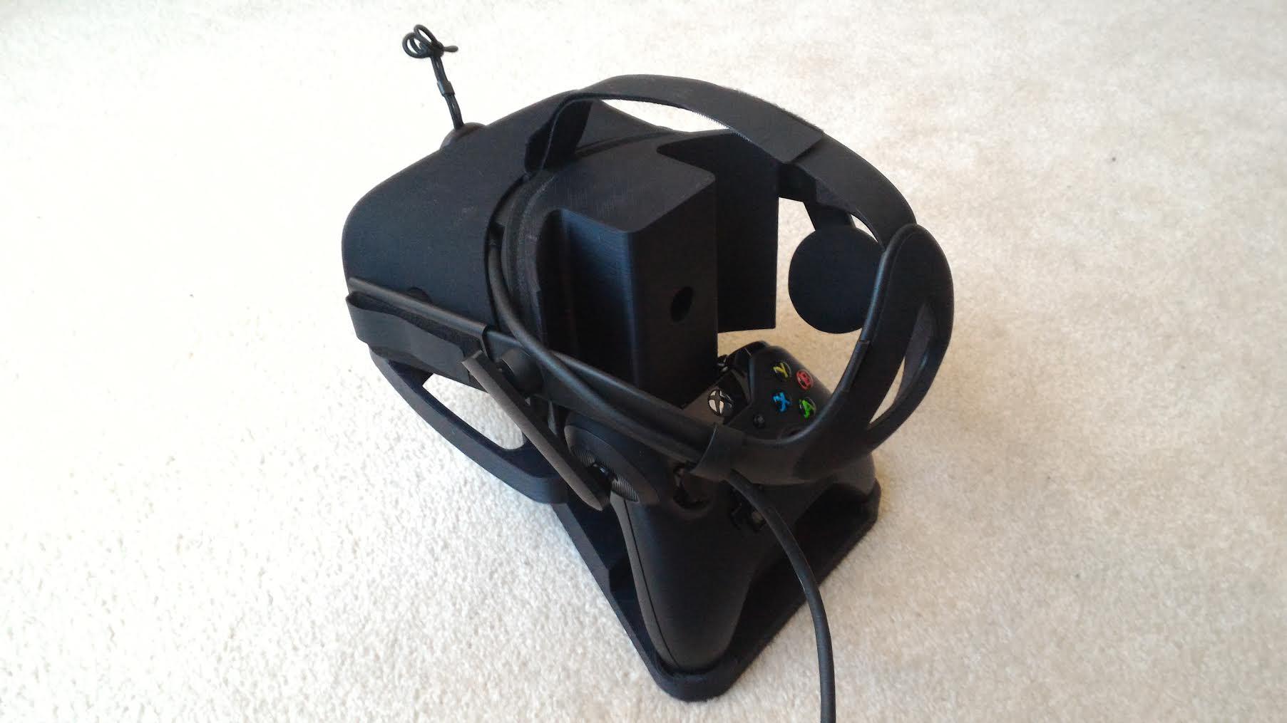 3d Printable Oculus Rift Cv1 Stand Version 2 By Jim Bob