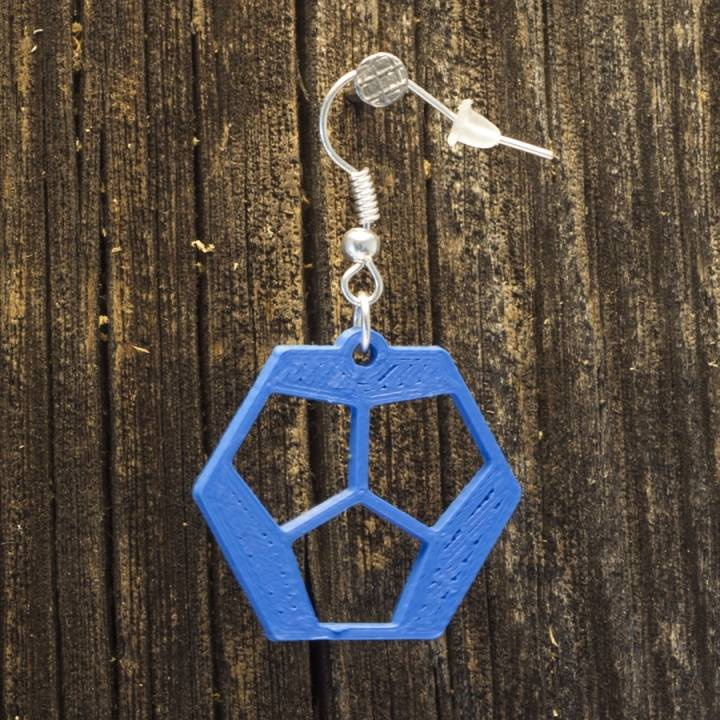 Earrings Dodecahedron 1.2