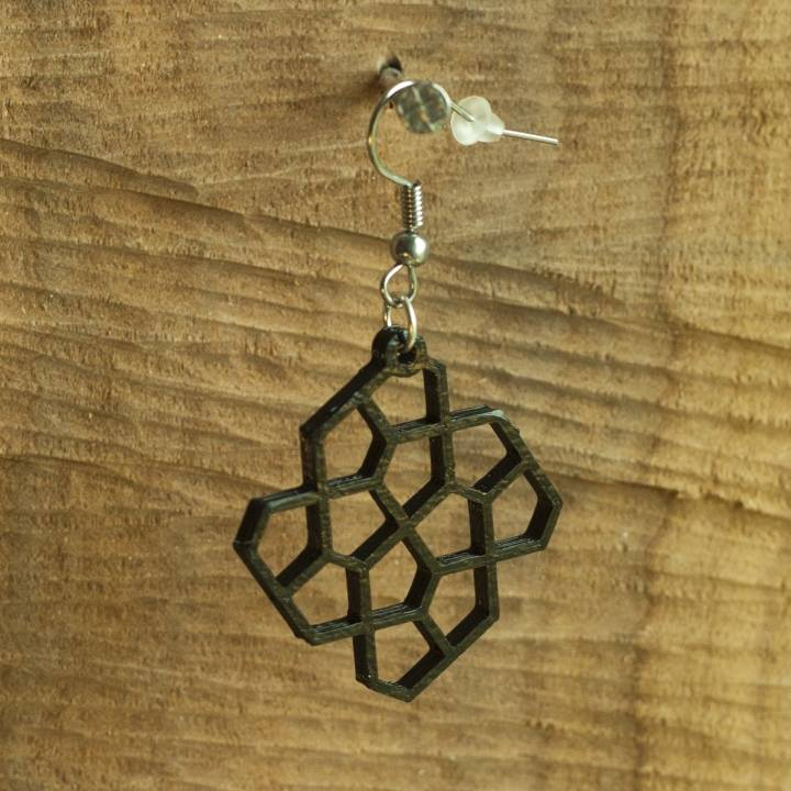 Earrings Cairo pentagonal tiling 4.1