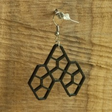 Earrings Cairo pentagonal tiling 5.1