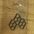 Earrings Cairo pentagonal tiling 5.1 image