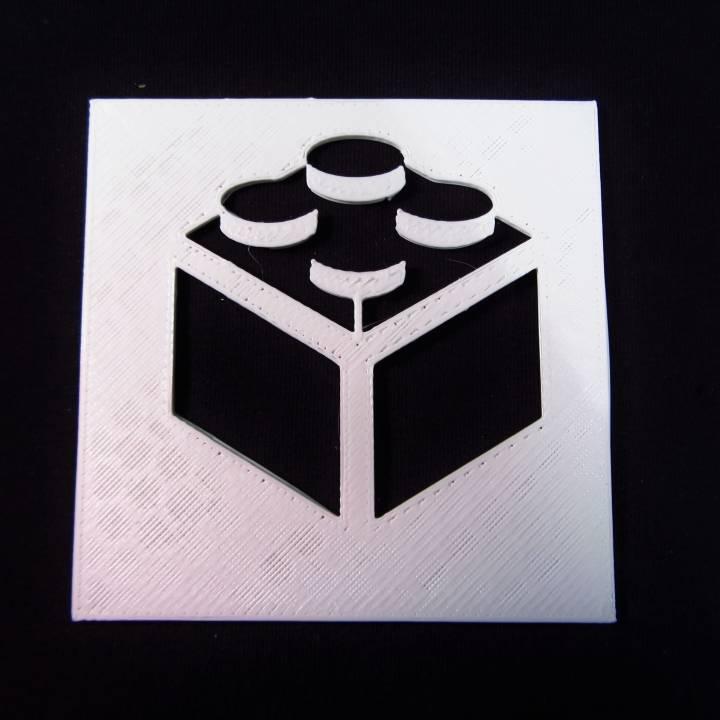 Logo Lego Stencil Image