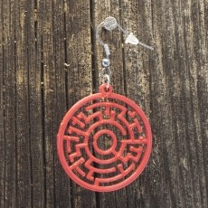 Earrings Theta maze 2