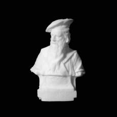 Bust of Johannes Gutenberg at Albertina, Vienna