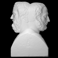 Double Herm with Thucydides and Herodotus at the Institut fur Klassische Archaologie, Vienna