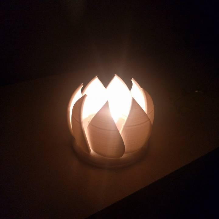 Flower Tea Light Holder