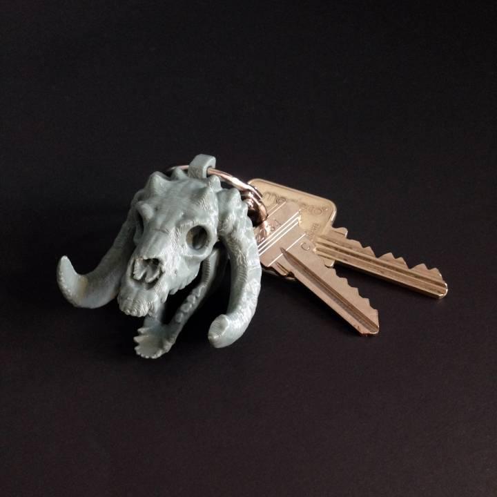 'Sleeping Bag' Mini Skull Charm, by 3DKitbash