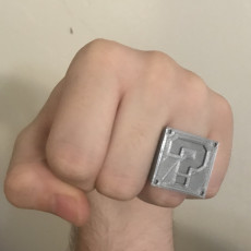 Picture of print of Question Block Ring