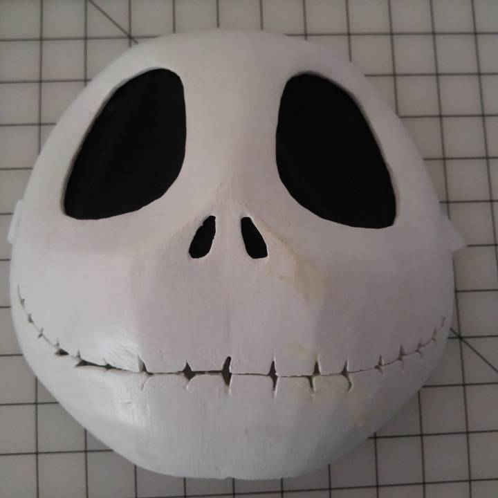 picture regarding Jack Skellington Printable titled 3D Printable Wearable Jack Skellington Mask as a result of Christopher