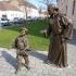 Monk and Child (Sculpture Group) in Alba Iulia, Romania image