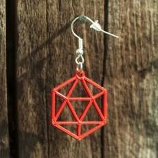 Earrings icosahedron 1