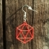 Earrings icosahedron 1 image