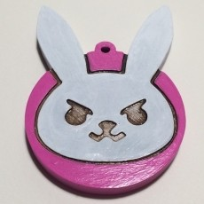 D.Va Bunny logo Keychain