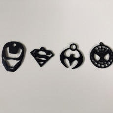 Picture of print of Superhero Keychains