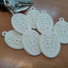 Picture of print of key chain Uefa Champions League 11 cups Real Madrid