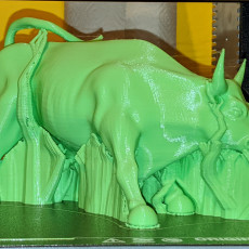 Picture of print of Wall Street Bull