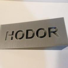 Picture of print of HODOR DOOR STOP - GAME OF THRONES