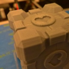 Picture of print of Portal Companion Cube (derivative, with hearts)