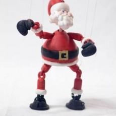 Boxing Santa- Marionette-