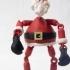 Boxing Santa- Marionette- image