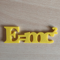 Picture of print of Science Fun! E=mc2 Magnet