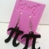 Pi Earrings! Geek Chic Nerdy Jewelry image