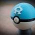 Team Aqua Pokeball, with magnetic clasp image