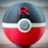 Team Rocket Rocketball Pokeball, with magnetic clasp image