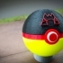 Team Magma Pokeball, with magnetic clasp image