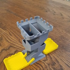 Picture of print of Dice Tower with Fold-Up Trays