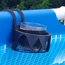 Picture of print of Support for tubular glass Intex pool version 2- Support verre pour piscine Intex tubulaire version 2