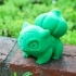High-Poly Realistic Bulbasaur image