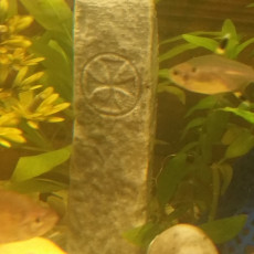 Picture of print of Ogham Stone - Arraglen - Ireland