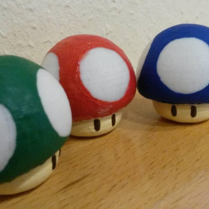 3d Printable Super Mario Mushroom By Christoph