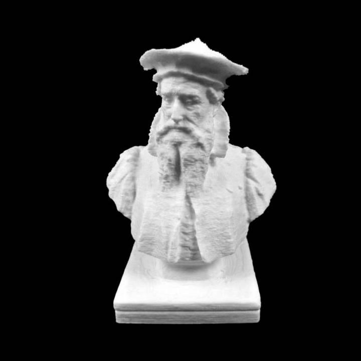 Bust of Gerardus Mercator in Sint-Niklaas, Belgium