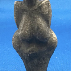 Picture of print of Venus of Dolní Věstonice at The Vienna Natural History Museum,  Austria