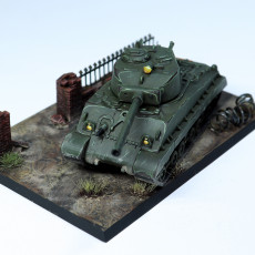 Picture of print of Sherman M4A3 76 mm 1:100 scale